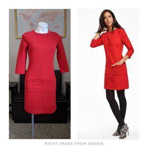 Boden ▪ Red Abigail Jacquard Tunic Dress
